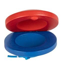 Percussion Kastagnette rot/blau