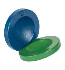 Percussion Kastagnette blau/grün