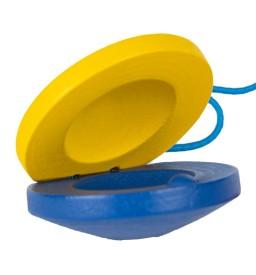 Percussion Kastagnette blau/gelb