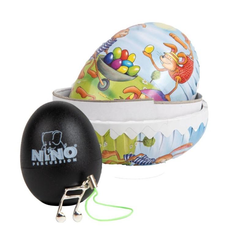 Nino Percussion 540 Egg Shaker schwarz