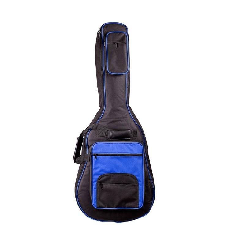 Gitarrentasche MSA GB20 4/4 blau für Akustikgitarren