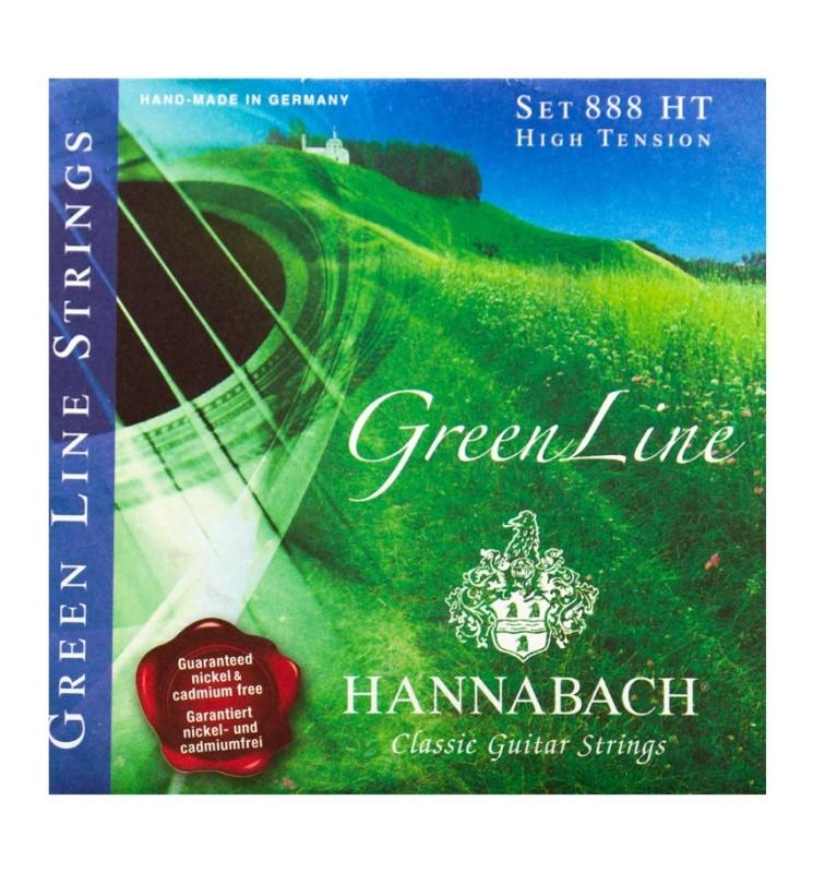 Konzertgitarren Saiten Hannabach 800LT grün