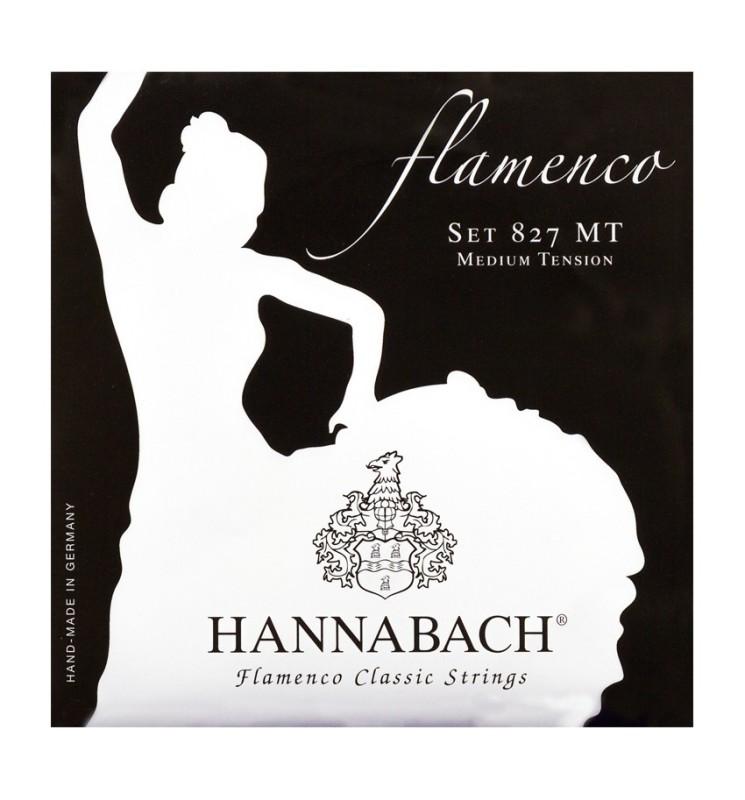 Konzertgitarren Saiten Hannabach 827MT Flamenco schwarz