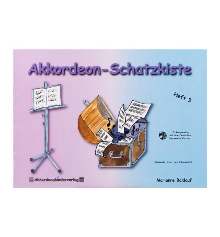 Notenheft -Akkordeon-Schatzkiste Heft 3