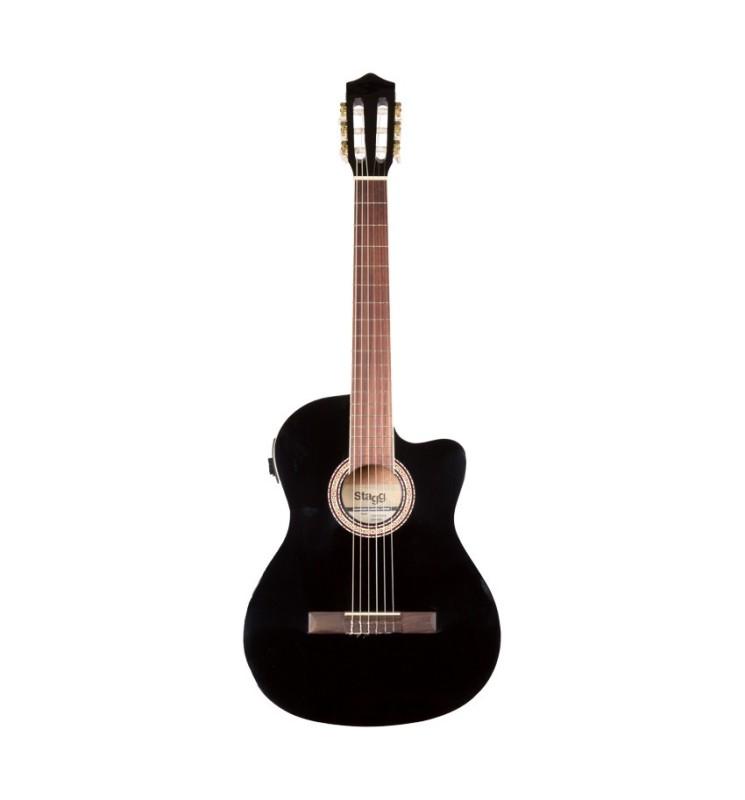 Konzertgitarre 4/4 Stagg C546TCE-BK
