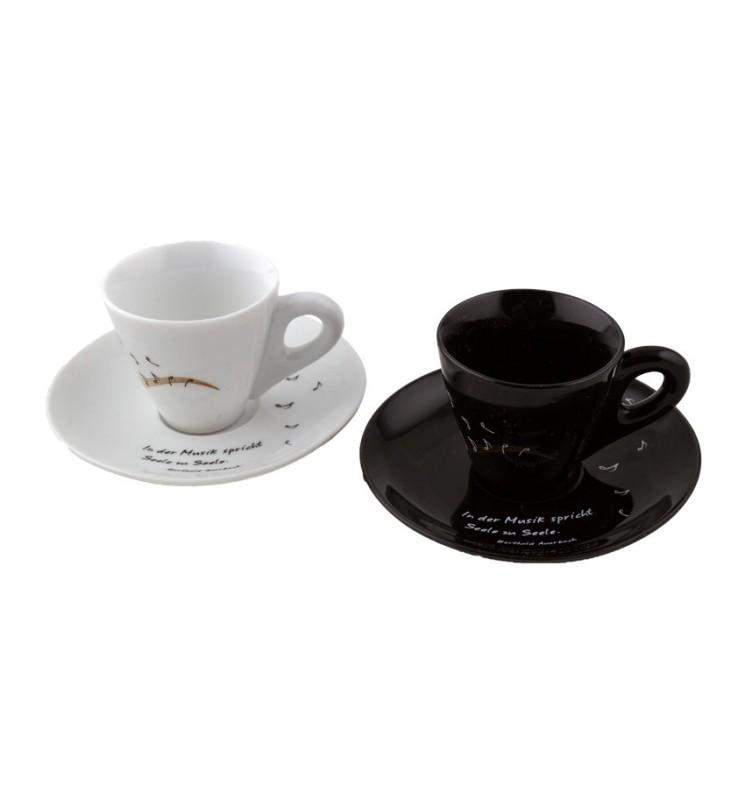 Kaffeetassen schwarz/weiß