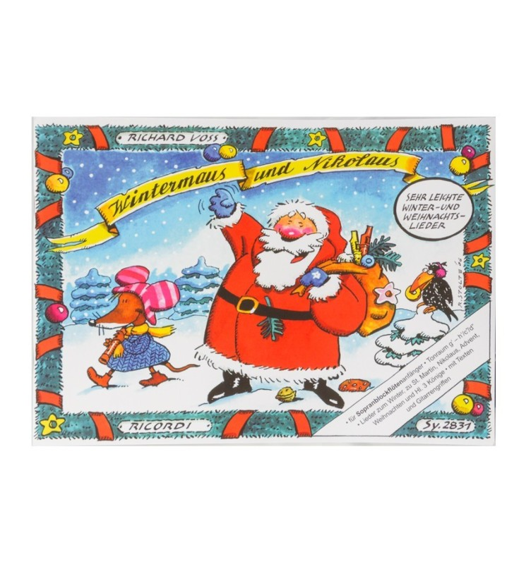 Notenheft Weihnachtslieder - Wintermaus und Nikolaus 2831