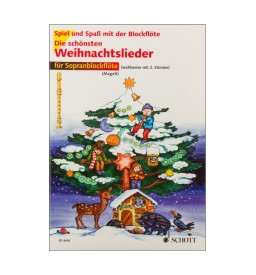 Notenheft Weihnachtslieder - Die schönsten Weihnachtslieder für Sopranblockflöte
