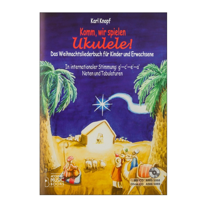 Notenheft Weihnachtslieder - Komm, wir spielen Ukulele! - Musik MaySie