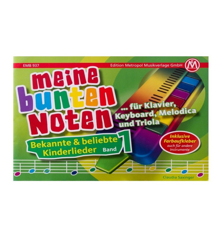 Notenheft - Meine bunte Noten - Band 1